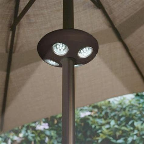 outdoor umbrella lighting new umbrella pole light outdoor patio yard lighting decor
