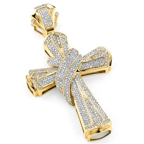 large pendants for jewelry hip hop jewelry large 10k gold mens cross