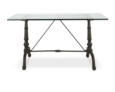 rectangular bistro table la coupole rectangular iron bistro table with glass top