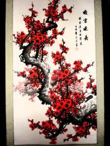 Red Bamboo Rug Cherry Blossom Tree By Jewtastic On Deviantart