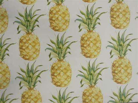 prestigious ananas tropical fruit print pineapple yellow