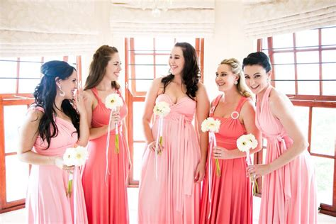 Novel Bridesmaids infinity dress sa bridesmaids dresses pink book