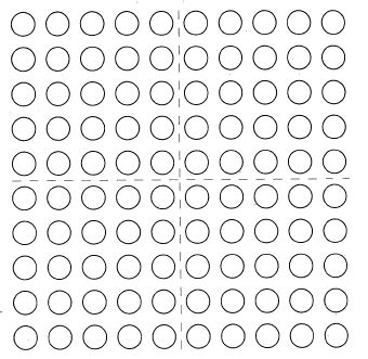 printable dot array paper mental math how many to 100 on the 100 dot array