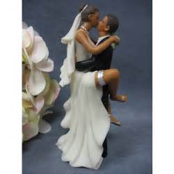 quot funny quot african american wedding bride and groom cake topper figurine wedding cake