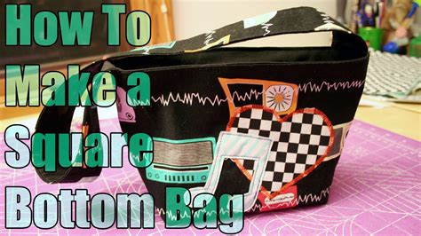 How To Sew Vinyl Upholstery Sewing Tutorial How To Make A Square Bottom Bag