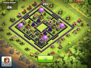 Clash of clans attack fail black hole base youtube