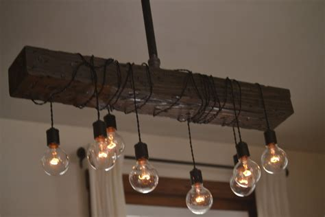 Reclaimed Pendant Lighting Wooden Farmhouse Chandelier