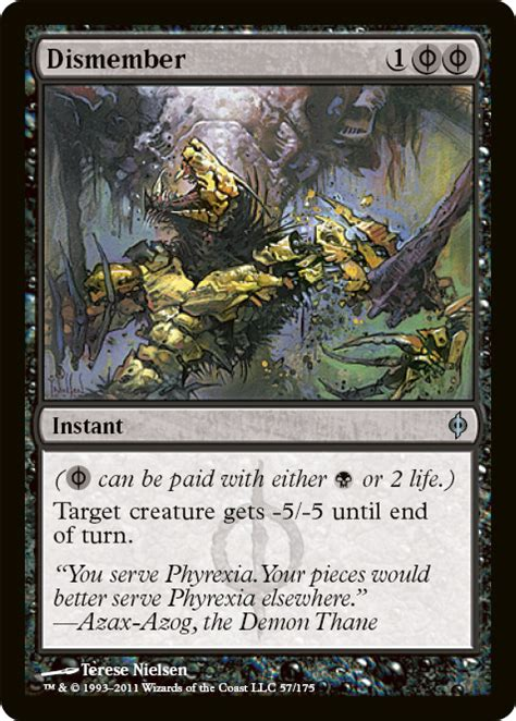 The Rack Deck Mtg by Dismember New Phyrexia Magic The Gathering Foil Single
