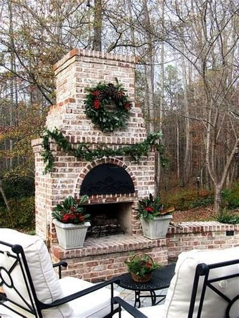 Outdoor Brick Fireplace Ideas by This Brick Outdoor Fireplace Landscaping