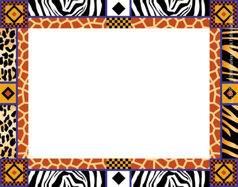 name tag border design africa name tags las1507