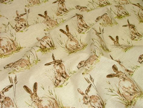 Vintage Upholstery Fabric Uk by Hares Vintage Linen Look Animal Print Designs Curtain