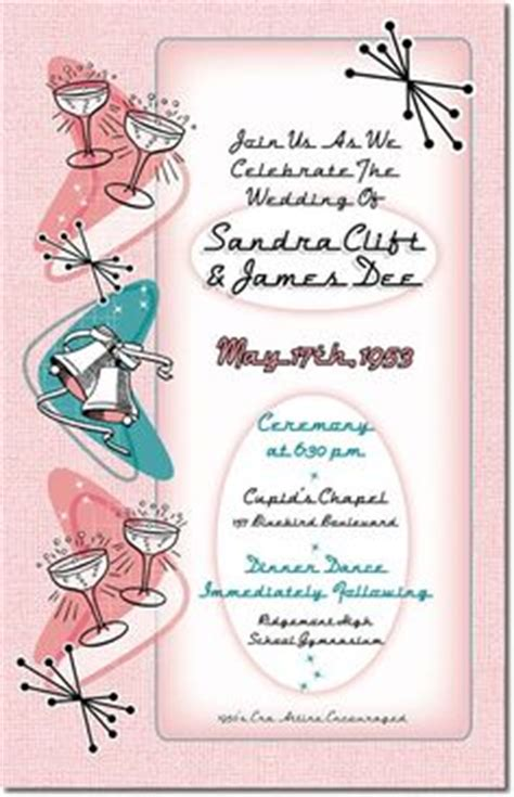 8 Retro Ways To A Mad Inspired Wedding by 1950s Wedding Invitations Fabulous Fifties Wedding