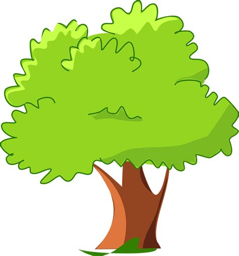 imagenes animadas arbol vector gratis dibujos animados verde feliz imagen