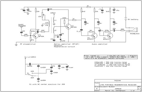 regenerative receiver schematic a wave