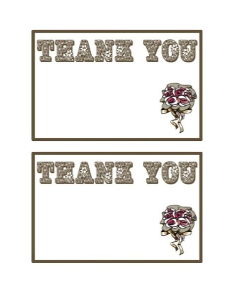 wedding thank you card templates clip art wording