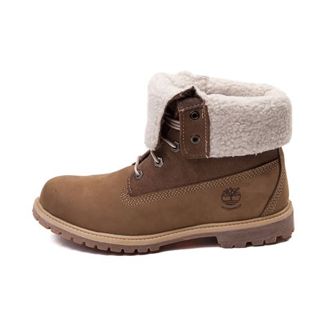 To Boot by Womens Timberland Fleece Fold Boot Brown 538479