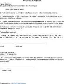the sample affidavit affidavit of john doe can help you
