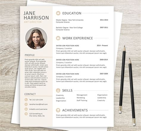 microsoft word resume template cover letter template