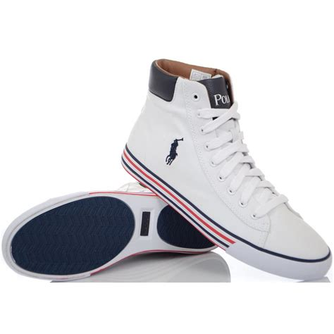 ralph shoes harvey ne white high top canvas