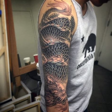 dragon arm tattoos for men 100 sleeve designs for breathing