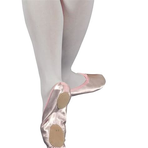 tappers and pointers pink split sole satin ballet shoes