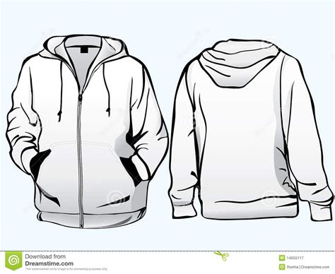 Jaket Oor jacket or sweatshirt template stock illustration