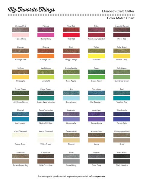 match the color mft printable resources color charts