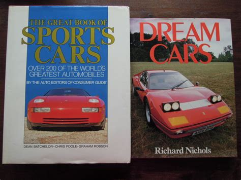 books about cars and how they work 1985 ford thunderbird electronic valve timing lot with 2 books richard nicholas dream cars 1985 dean batchelor the great book of