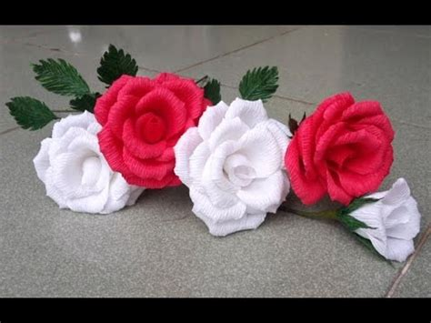 Show Me How To Make Paper Flowers - abc tv how to make paper flower from crepe paper