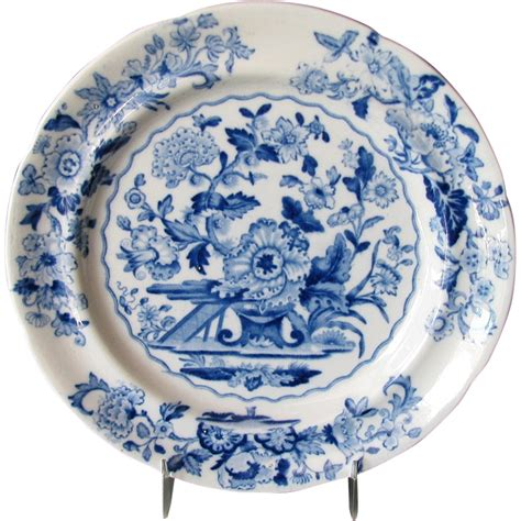 blue and white china l english chinoiserie plate quot dresden opaque china quot blue