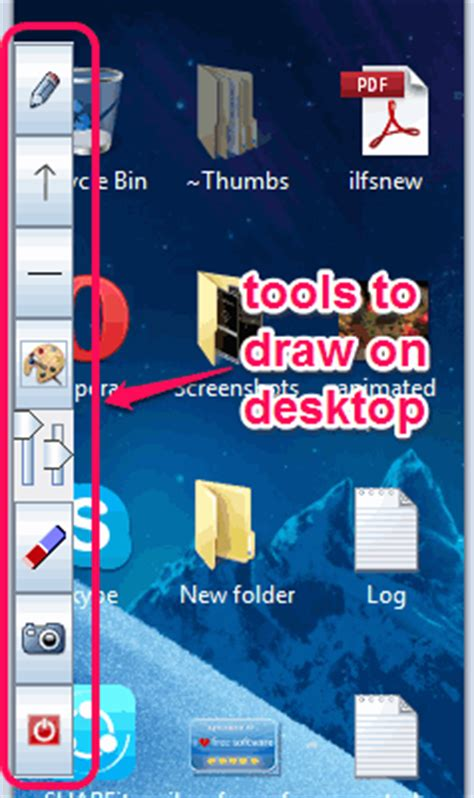 desktop drawing tool free drawing program to draw on screen and save drawing