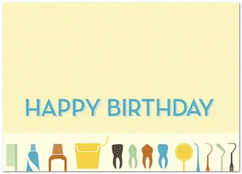 Happy Birthday Wishes For Dentist Dental Birthday Card Business Birthday Cards Posty