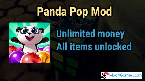 mod game unlimited money panda pop mod all items unlocked unlimited money