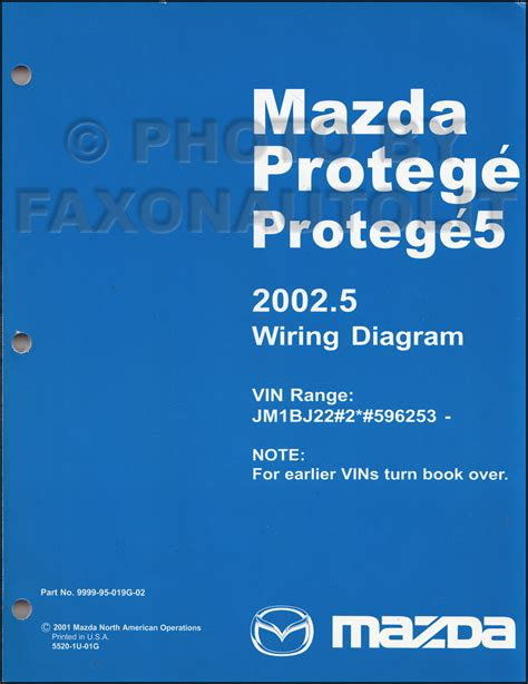 2002 2002 5 mazda protege wiring diagram manual original