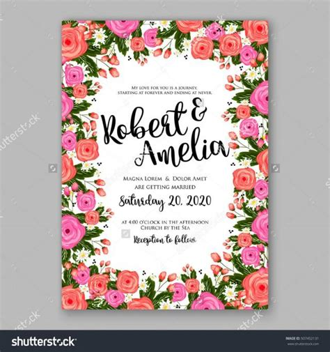 bridal shower place cards templates wedding invitation printable template with floral wreath
