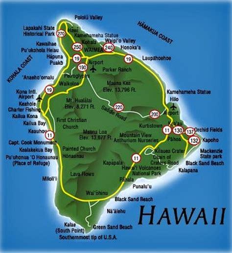 hawaii big island map big island travel guide