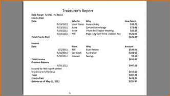 12 sample treasurer s report for non profit lease template