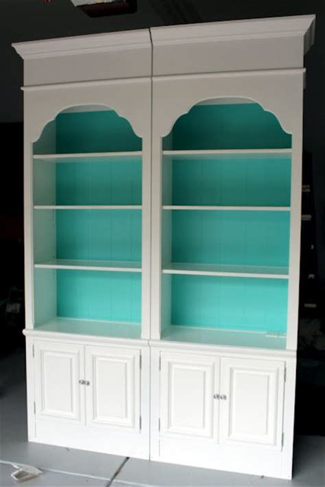 bookshelves makeover might do this with the leftover paint from painting my toilet it s a