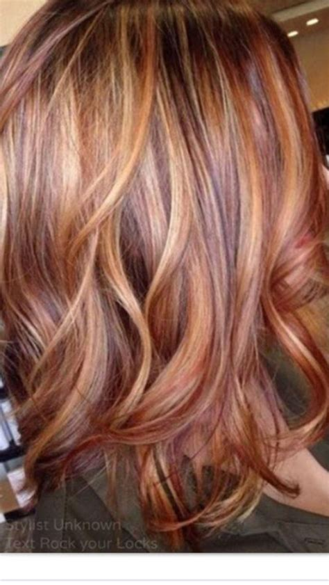 red blonde and brown highlights hair makeup pinterest pin by amy angel on hair pinterest hair coloring hair