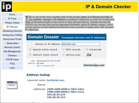Website To Find S Addresses How To Find Server S Ip Address Of Any Website Freemium World