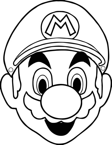 mask coloring pages masks mario coloring page cakes