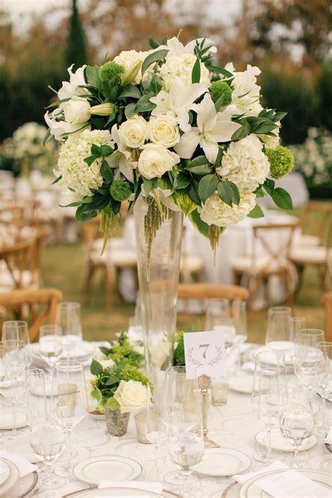 White Wedding Flower Arrangements by White And Black Wedding Deco Wedding