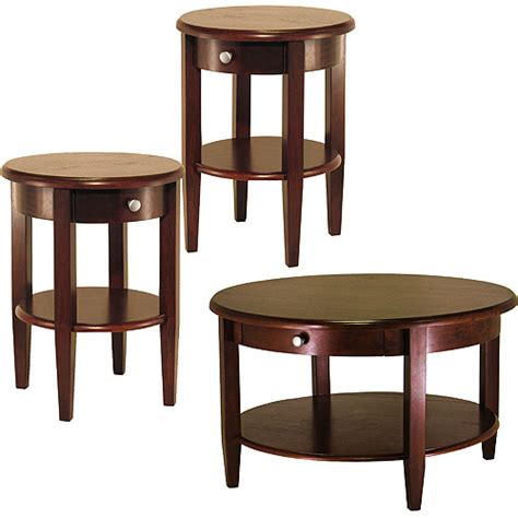 Concord 3 Piece Coffee End Tables Value Bundle Walnut Walmart Coffee Table And End Tables