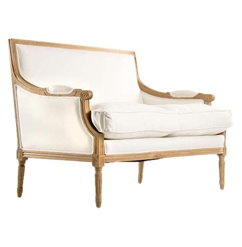 country settee st germain french country natural oak louis xvi white