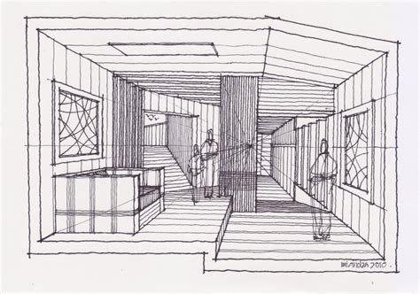 sketch draw sectional interior perspective 260810