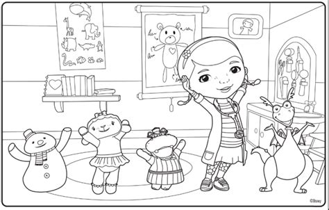 Doc Mcstuffins Coloring Pages Disney Junior by Free Doc Mcstuffins Colouring Pages Ipennypinch