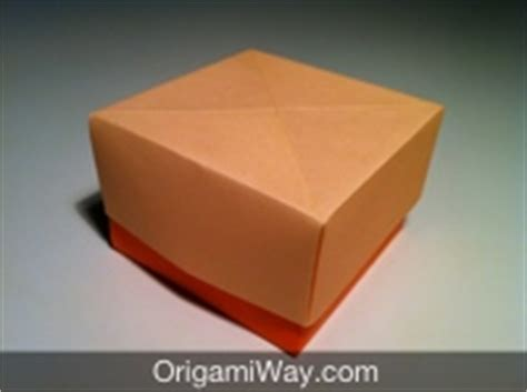 How To Make An Origami Box With Lid - how to make an origami box with lid