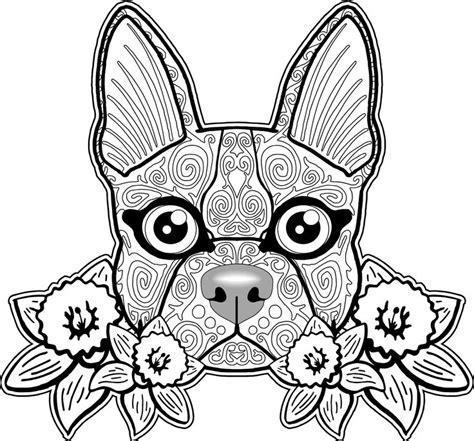 dog mandala coloring page dog doodle animaux pinterest coloration cr 226 nes et
