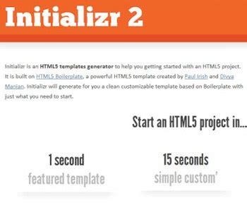 template generator html5 html5 template generators frameworks and tools hongkiat