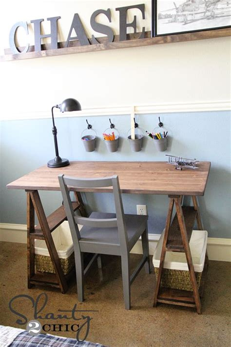Diy Trestle Desk 17 Best Images About Pottery Barn Restoration Hardware Diy On Ls Moss Letters